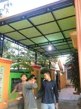 Kanopi minimalis atap kalpalum plus ternit