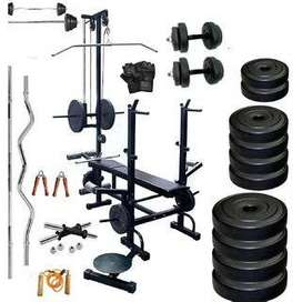 home gym set with multiple bench
