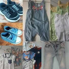 Baju baby/ hem/ kazel/ kemeja/ jeans cewek/ sepatu
