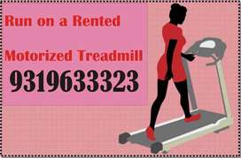 Treadmill on rent hire display show time distance speed calorie