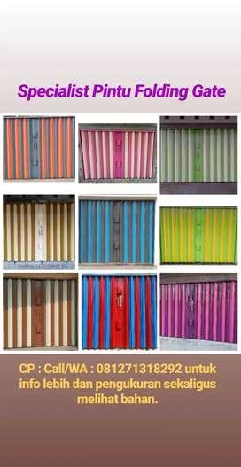 Folding Gate ( Rolling Door ) Royal Abadi berbahan BAJA free box kunci