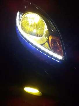 pasang alis led running sein led 2warna 3warna HID foglamp DRL projie