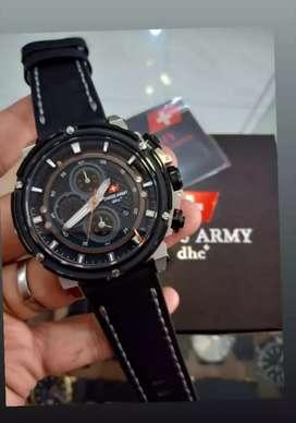jam tangan swiss army dhc+ chrono mode on include lengkap fullset