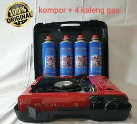 Kompor portable plus gas hicook 4 tabung