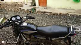 It is in good condition, single hand motarcycle it is splendor plus,