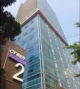Disewakan Office Space 321m2  di Cyber 2, Rasuna Said, Jakarta Selatan