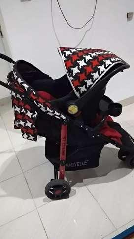 Stroller baby Elle type bravo TS dan car seat babyElle