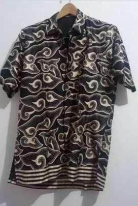 - COD - Antar Free - Batik kemeja good size L bahan lembut