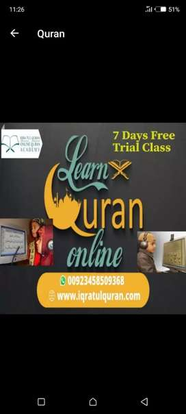 Online Quran Teacher required with good English speaking skills