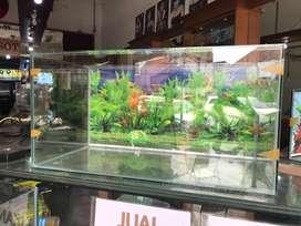 Aquarium di jual 80x40x40 background
