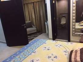 1bed room furnished falt4rent in heights3bahria town rwp