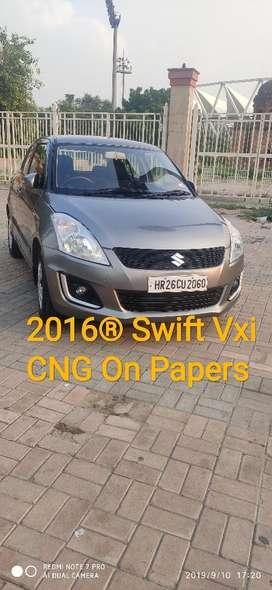 Maruti Suzuki Swift VXi 1.2 ABS BS-IV, 2016, CNG & Hybrids