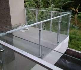 Kami bengkel las nerimah pemasangan balkon stanlis kaca $$1780