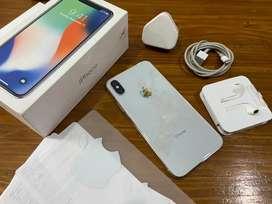 iPhone X 256GB Silver - Mulus - Lengkap - No rekon - TT sepeda