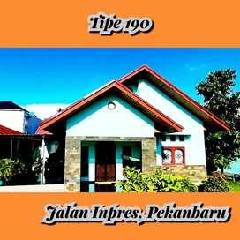 Tipe 190 rumah dijalan inpres lokasi tidak jauh ke SMPN 34 Pekanbaru