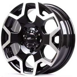 Velg Racing Murah SCHEME JT6049 HSR Ring 16 Black Polish