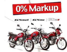 Suzuki Bikes Available on 0% Markup 24 Months Installment