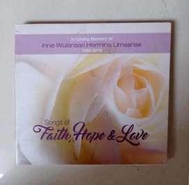 CD Rohani : FAITH, HOPE & LOVE.  kondisi segel original
