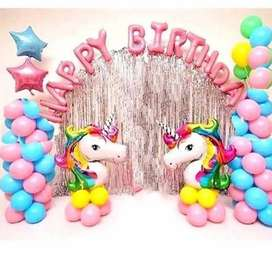 Happy birthday Party Decoration Baloons Banner Available