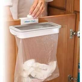 HS Attach A Trash tempat sampah portable gantungan Kantong Plastik