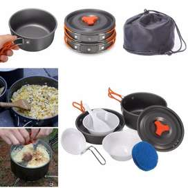 Portable Outdoor Cooking Set Camping Hiking Cookware