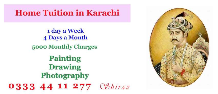 Painting  photography Drawing HOME Tuition  in Karachi 0