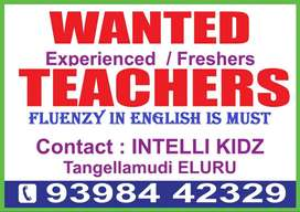 Wanted Female Teachers-Fluenzy in English is Must.