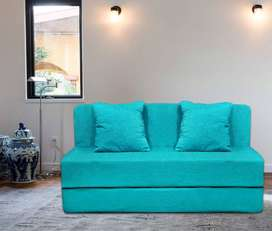 AARAHAN Sofa cum bed 6x3 with cushion and soft cotton velevt touch fab