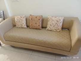 Used Godrej Interino Urban brand 3+1+1 Synthetic Leather Sofa