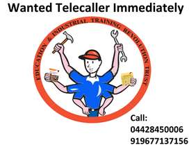 Immediately wanted Telecaller Female