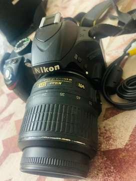 Camara Nicon D3200 with lence 55mm