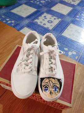 Vans, customized by fashion designer, never worn once,  brand new,