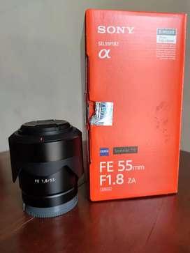 Lensa Sony FE 55 f/1.8 zeiss bukan Canon Fujifilm Nikon