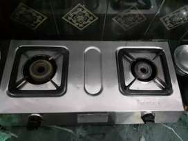 For Rs 500/-sale gas stove with two burner