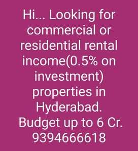 Hi.. looking for rental income properties