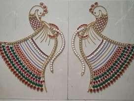 Beautiful 2 peacock Rangoli