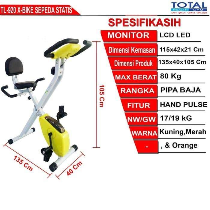 Sepeda statis TL 920 I Alat Fitness 2 Fungsi Murah dan Bukan Bekas 0