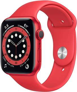 Apple Watch Series 6 44mm Red Aluminum Case Red Sport Band