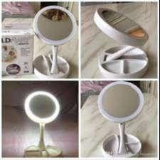 Makeup Lampu Cermin Pembesar Rias Dua sisi Kosmetik Mirror LED