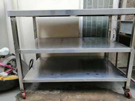 Stainless Steel Three Shelf Working Table