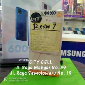 redmi 7 3/32 new grs resmi 1thn bs tt /cod free ongkir