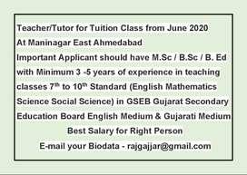 Teacher / Tutor