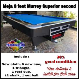 Meja Billiard Murrey Superior Second / Pooltable / Billiard / Bilyar