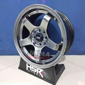 Velg mobil racing murah ring 15 HSR wheel baut 4x100 dan 4x114,3