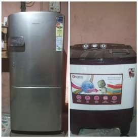 Selling fridge & washing machine