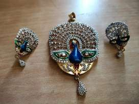 Peacock Diamond Set || With tag || Premium Quality