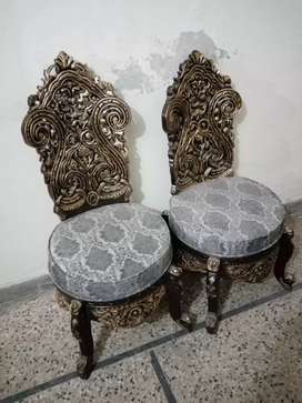 Bedroom Chairs/ Coffee Chairs set with Table (Chinnioti)