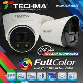 DEALER RESMI CCTV TECHMA FULL COLOUR SIANG MALAM BERWARNA