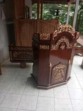 Mimbar masjid podium bisa request warna