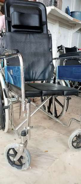 Wheel Chair Foldable - 100 kg Capacity Used & New Wheelchair